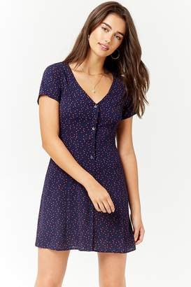 Forever 21 Polka Dot Crepe Mini Dress