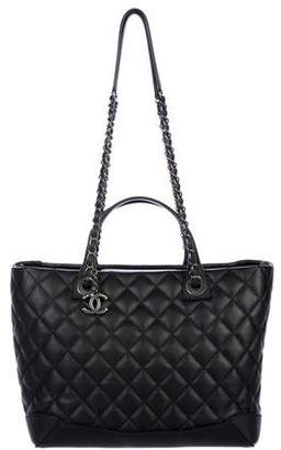 Chanel 2017 Quilted Easy Shopping Tote