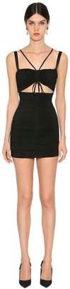 Dolce & Gabbana Stretch Jersey Mini Dress W/ Cut Out