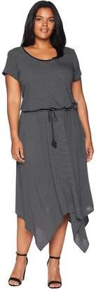 Lauren Ralph Lauren Plus Size Handkerchief-Hem Short Sleeve Dress Women's Dress