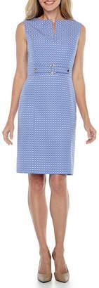 CHELSEA ROSE Chelsea Rose Sleeveless Jacquard Sheath Dress