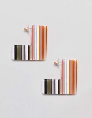 Asos Design DESIGN earrings in square slice resin