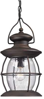 Elk Lighting 47043/1 Village Lantern Traditional Outdoor Hanging Light