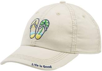 Life is Good Sun-Washed Flip Flop Scene Chill Cap