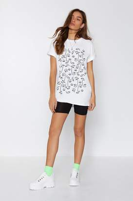 Nasty Gal Can't Feel My Face Tee
