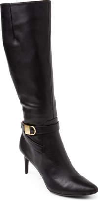 Calvin Klein Black Jermanine Leather Knee High Boots