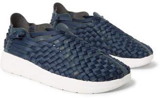 Malibu Latigo Woven Faux Leather And Nylon-Webbing Shoes