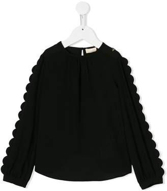 Elisabetta Franchi La Mia Bambina scalloped trim blouse