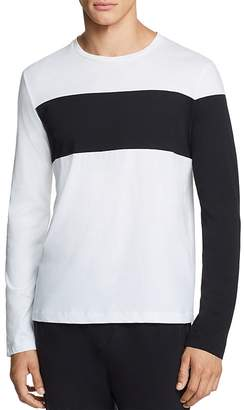 Helmut Lang Long-Sleeve Color-Block Logo Graphic Tee