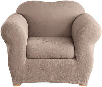 Sure Fit Stretch Jacquard Damask 2-pc. Chair Slipcover