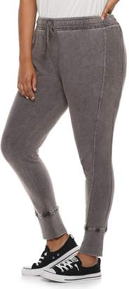 So Juniors' Plus Size SO Ribbed Cuff French Terry Jogger Pants