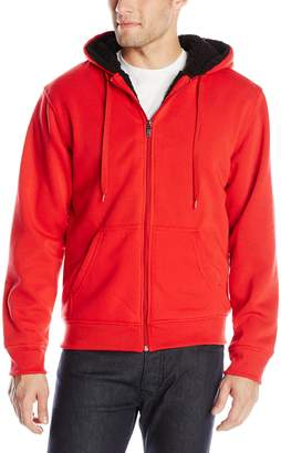 Southpole Men's Active Basic Full Zip Sherpa Hoodie