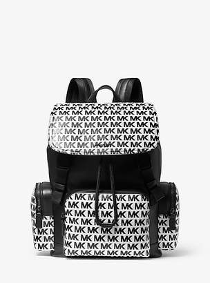 Michael Kors Henry Logo-Embossed Leather Backpack