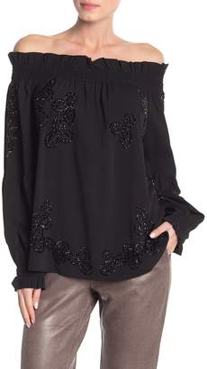 Religion Structure Beaded Top