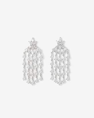 Express Cubic Zirconia Teardrop Waterfall Earrings