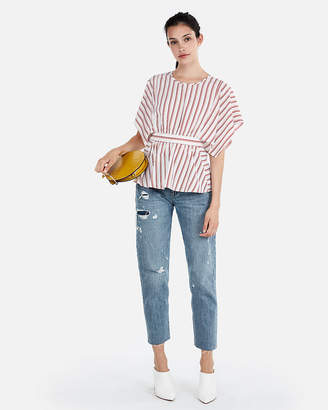 Express Striped Kimono Sleeve Blouse