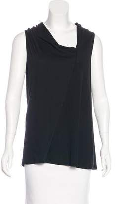 Rachel Zoe Asymmetrical Neck Sleeveless Top