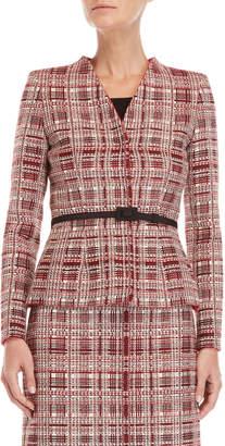 Carolina Herrera Belted Tweed Jacket