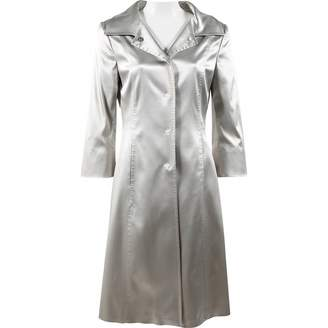Dolce & Gabbana Silver Synthetic Trench coats