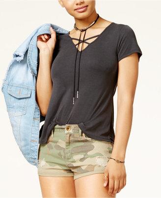 American Rag Juniors' Strappy T-Shirt, Created for Macy's $39.50 thestylecure.com