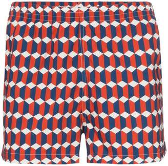 Trunks Timo geometric print drawstring swimming