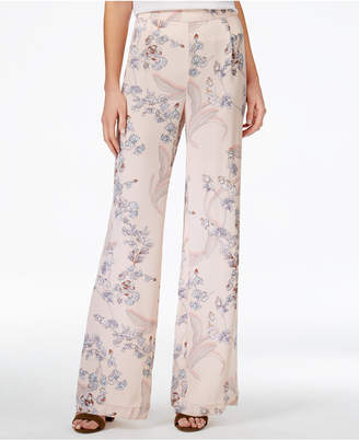 Bar Iii Wide-Leg Trousers, Created for Macy's $69.50 thestylecure.com