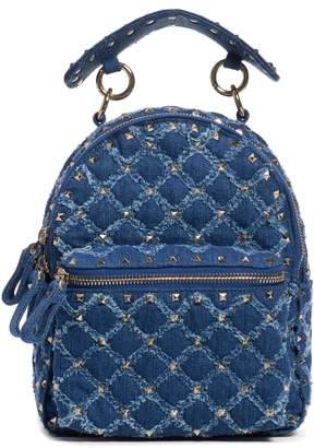 Valentino Mini Rockstud Spike Denim Backpack