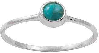 ITSY BITSY itsy bitsy Sterling Silver Simulated Turquoise Ring