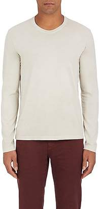 Loro Piana Men's Cotton Jersey Long-Sleeve T-Shirt - Light Gray