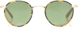Garrett Leight Round-Frame Tortoiseshell Metal And Acetate Sunglasses