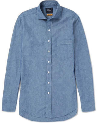 Drakes Drake's Easyday Cutaway-Collar Cotton-Chambray Shirt