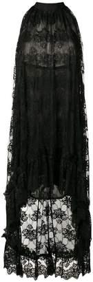Christian Pellizzari halterneck lace dress