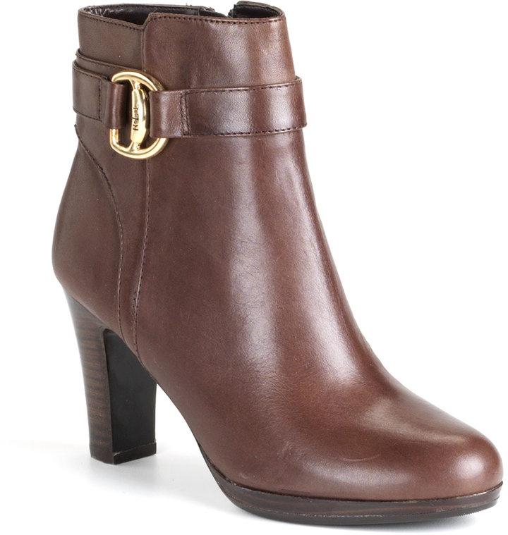 Lauren Ralph Lauren Mandy Buckle Ankle Boots