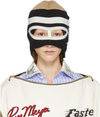 Gucci Black and White Wool SF Balaclava