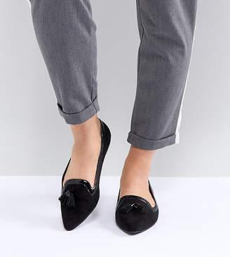 Asos DESIGN Locker Wide Fit Pointed Loafer Ballet Flats