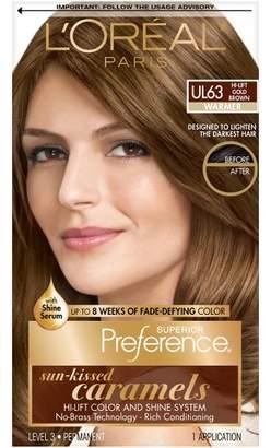 L'Oreal Paris Superior Preference Sun-Kissed Caramels - Hi-Lift Gold Brown - 1 kit