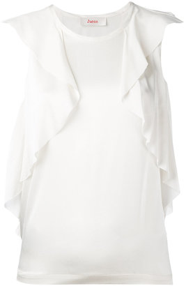 Jucca ruffled detail sleeveless blouse $183.06 thestylecure.com