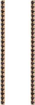 Aurate Diamond Bar Earrings With Black Diamonds