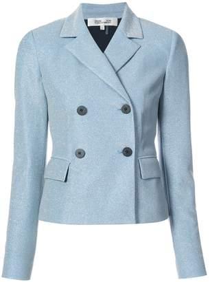 Diane von Furstenberg glittery double-breasted blazer