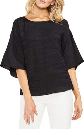 Vince Camuto Textured Stripe Blouse