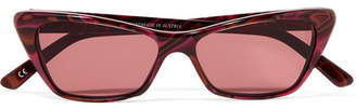 Cat Eye Andy Wolf - Cat-eye Acetate Sunglasses - Red