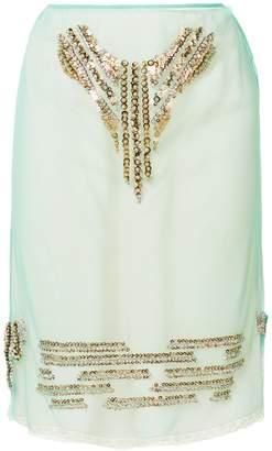 Prada Embellished tulle skirt