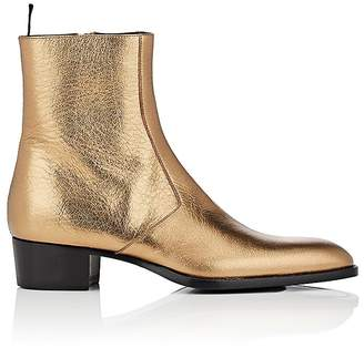 Saint Laurent Men's Wyatt Leather Boots