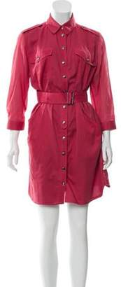 Burberry Casual Shirt Dress Pink Casual Shirt Dress