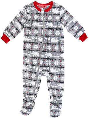HOLIDAY #FAMJAMS Holiday famjams Fairisle Bear 1 Piece Footed Pajama -Baby Unisex