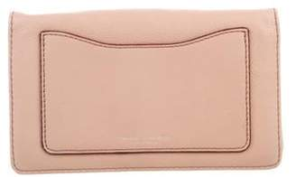 Marc Jacobs Leather Wallet On Strap Champagne Leather Wallet On Strap