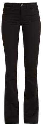 M.i.h Jeans - Marrakesh High Rise Kick Flare Jeans - Womens - Black