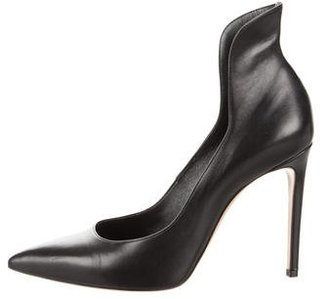 Casadei Leather Pointed-Toe Pumps w/ Tags $195 thestylecure.com