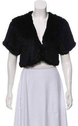 Jocelyn Cropped Fur Jacket