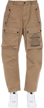 DSQUARED2 20cm Cotton Cargo Pants